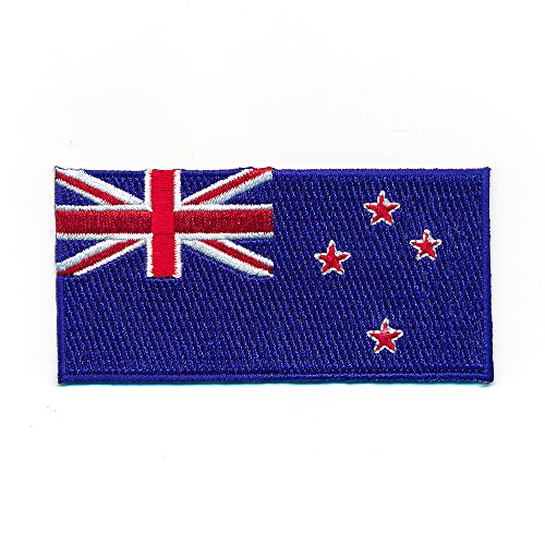 Hegibaer 40 x 20 mm Nieuw-Zeeland vlag Wellington New Zealand applicatie opstrijkmachine 1077 Mini