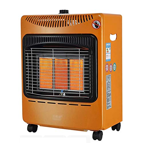 AIOEJP 4200W LPG Cabinet Gas Heater, Outdoor Heaters for Patio Propane Calor Gas Heaters Portable wheels Infrared Space Heater Safety Protection Orange