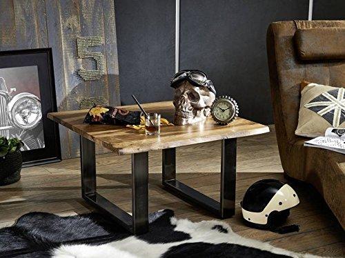 Table Basse carrée 80x80cm - Bois Massif de Palissandre laqué (Noble Unique) - Freeform #0200