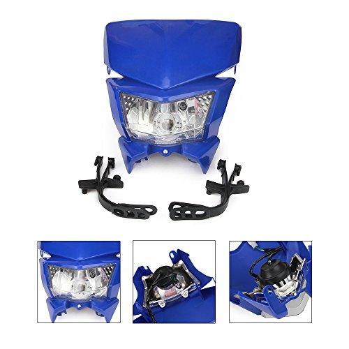AnXin Faros delanteros universales con luz LED de giro Street Fighter para Yamaha YZ80 85 125 250 250F 400F 426F 450F WR125 250 250F 426F 450F Motocross - Azul