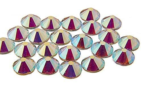 EIMASS® Cristal Hotfix de grado A con parte trasera plana, diamantes de imitación brillantes, disfraces, fundas de teléfono, artículos personales (ss8 (2,5 mm), 1440 x Crystal AB Vector)