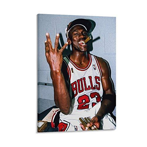 caonidaye Póster deportivo de Michael Jordan de 1998, diseño de jugador de baloncesto de cigarros de Michael Jordan