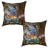 Paquete de 2 Fundas de Cojín Fundas de Almohada,Coves del Drac Mallorca,cuadradas Cojín Liso Decoración para el hogar Decoraciones para sofá Sofá Cama Silla (50x50cm) x2