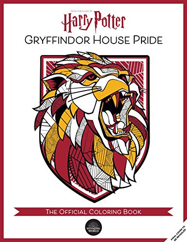 Gryffindor House Pride: The Official Coloring Book: (gifts Books for Harry Potter Fans, Adult Coloring Books)