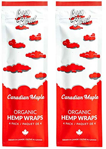 Low Cloud Organic Hemp Wraps – 2 packs of 8 wraps – Canadian Maple
