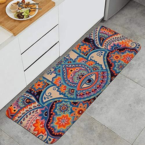 Psychedelic Evil Eye Charm Kitchen Mat Super Cozy Velvet Carpets Non-Slip Kitchen Rug
