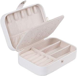 Lurrose Espelho de maquiagem1 unidade multifuncional porta joias portátil caixa de viagem diversos organizador de enfeites...