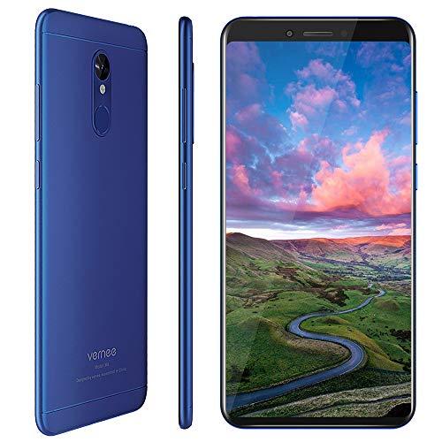 Vernee M6 Smartphone(2019), Display 5,7  , 4GB + 64GB Rom, Processore Octa-core, Batteria 3300mAh, Fotocamera 16MP e 13MP, Telefono Cellulare Dual Sim 4G, Blu [Versione Italiana]