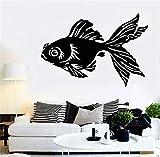 pegatinas de pared baratas Oro chino peces animales acuario mascota