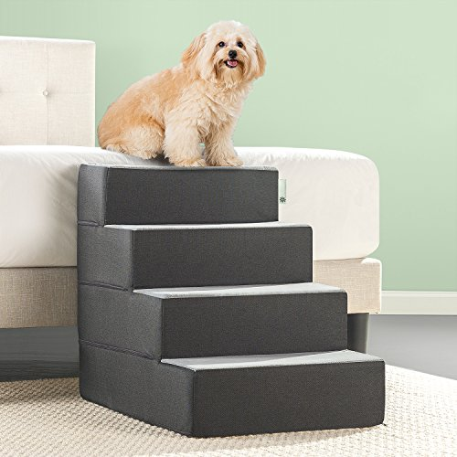 Zinus Easy Pet Stairs/Pet Ramp/Pet Ladder, X-large, Grey