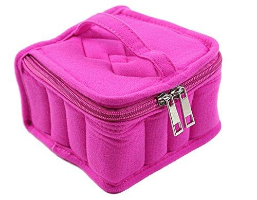 ODN Rosa Sac de Stockage et Sac de Rangement Portable avec 16 Compartiments pour Bouteilles d'Huile Essentielle