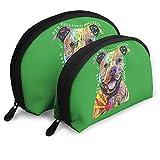 XCNGG Bolsa de almacenamiento Lindo colorido Pitbull gráfico portátil de viaje maquillaje bolso impermeable organizador de artículos de tocador bolsas de almacenamiento