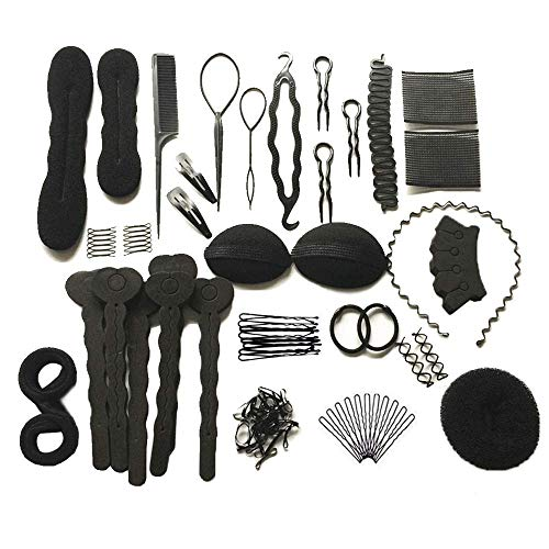 Cyleibe Haare Frisuren Set, Haar Zubehör styling set,Hair Styling Accessories Kit Set Haar Styling Werkzeug, Mädchen Magic Haar Clip Styling Pads Schaum Hair Styling tools für DIY