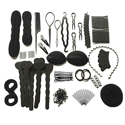 Cyleibe Haare Frisuren Set, Haar Zubehör styling set,Hair Styling Accessories Kit Set Haar Styling Werkzeug, Mädchen Magic Haar Clip Styling Pads Schaum Hair Styling tools für DIY