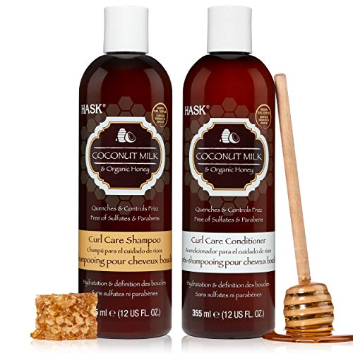 HASK COCONUT MILK + HONEY Shampoo and Conditioner Set Curl Care