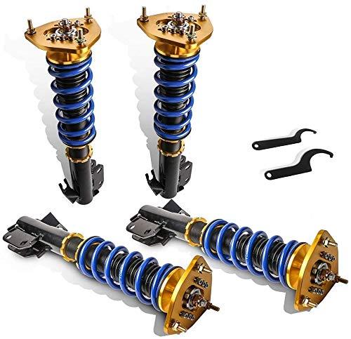 MOSTPLUS Coilovers Struts Compatible for 2002-2007 Subaru Impreza WRX GDB GDA/2003-2008 Foreste/2005 Saab 9-2X (Set of 4)