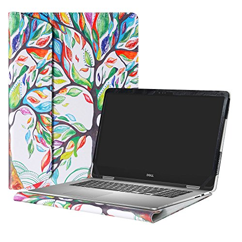 """Alapmk Diseñado Especialmente La Funda Protectora de Cuero de PU Para 15.6"""" Dell Inspiron 15 2-in-1 7000 Series 7573 i7573/Inspiron 15 i7570 7570 Ordenador portátil,Love Tree"""
