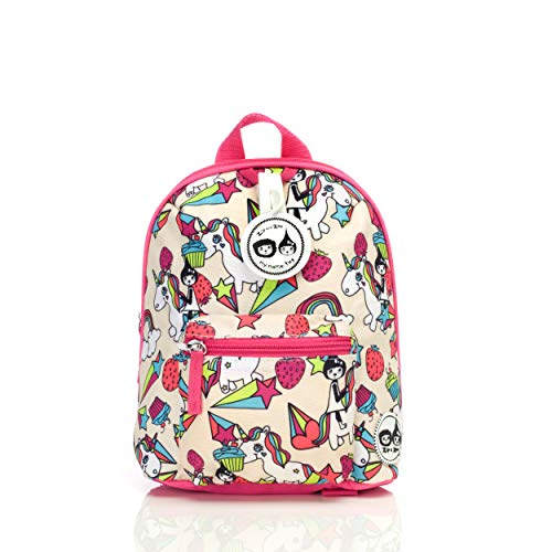 Pink Unicorn Toddler Kids Children Mini Backpack Rucksack With Reins Girl Boy