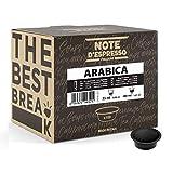 Note d'Espresso - Cápsulas de café para las cafeteras Lavazza y A Modo Mio, Arabica, 7 g (caja de 100 unidades)