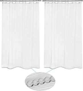 """AmazerBath 2 Pack Shower Curtain Liners, 72"""" W x 78"""" H PEVA 3G Shower Curtains with Heavy Duty Glass Beads and 12 Rust-Resistant Grommet Holes, Waterproof Odorless Lightweight Plastic Liners - Clear"""