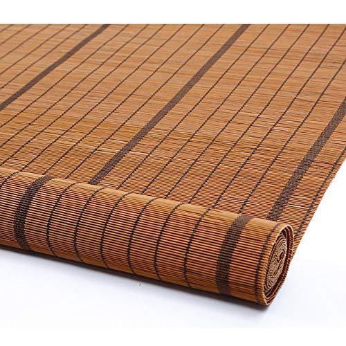 Koovin Bambusrollo-Raffrollo Jalousien FüR Fenster/TüRen/Innen Divider, BelüFtung Staubdicht Orientalische MöBel, Pastoral Style