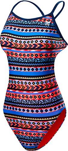 TYR Damen Santa Fe Intero Crosscutfit Durafast One Intero Damen Schwimmanzug Antichlor-Stoff Damen, Damen, TCSFD7 004 28, Nero/Multicolor, 28
