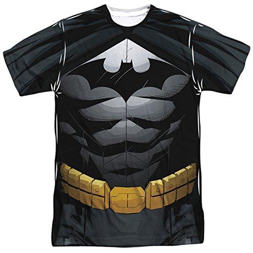 Batman DC Comics Superhéroe Batsuit Disfraz de Adulto con impresión Frontal Camiseta...