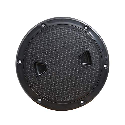 Nbxypeaus Marine Boat for RV Black 4/6/8 inch Access Hatch Cover Twist Screw Out Deck Plate Round Inspection Hatch for Boat Dropshipping Black (Color : Black 8 inch)