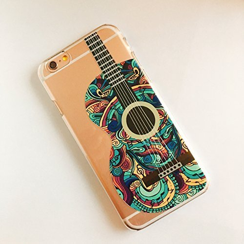 deco fairy iphone 6 case rubbers Foxycases iPhone 6 / 6S , Silicone Flexible Case Cover - Guitar Green Pattern Music