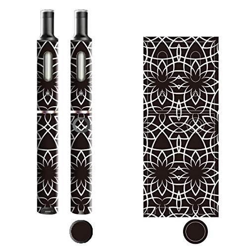 電子たばこ タバコ 煙草 喫煙具 専用スキンシール 対応機種 プルームテックプラスシール Ploom Tech Plus シール ラインアート Black & White 16 アラベスク 21-pt08-0112