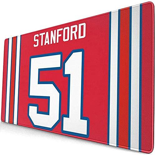 Computerspiel Mauspad # 51 Stanford Red Football Großes Mousepad Tastatur Gummi rutschfeste Tischabdeckung Mauspad,40x75cm