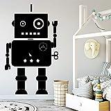 45x75cmDIYK anpassbare Babyzimmer niedlichen Roboter Wandaufkleber Hausdekoration Zubehör Junge Raumdekoration Wandaufkleber Junge Geschenk