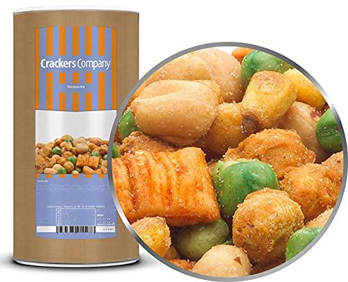 1 x 550g Snackmischung Barcelona Knabberei mit Salsa Erdnüsse Maiskörner Nach Kichererbsen 19% Protein