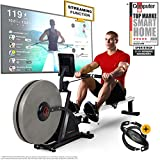 Sportstech 2in1 Professional Rowing Machine - German Quality Brand - Event Videos & Multiplayer APP & 16x Air & Magnetic Brake System, 16 Training Programs, RSX600, Competition Mode, foldable