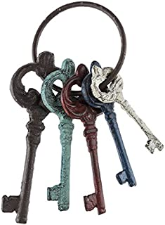 Colorful Cast Iron Key Ring