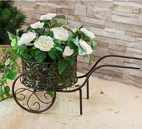 Metal Iron Ornate Wheelbarrow Planter Stand Garden Bike Patio Ornament
