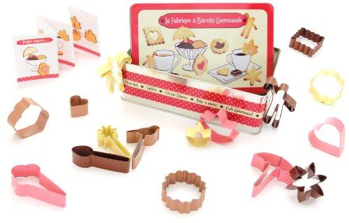 Idelice PR204 080B 16 Emporte-Pièces couleur Fabrique à Biscuits Gourmands Acier Étamé Rose Framboise