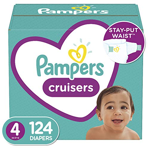Price comparison product image Diapers Size 4,  124 Count - Pampers Cruisers Disposable Baby Diapers,  Enormous Pack