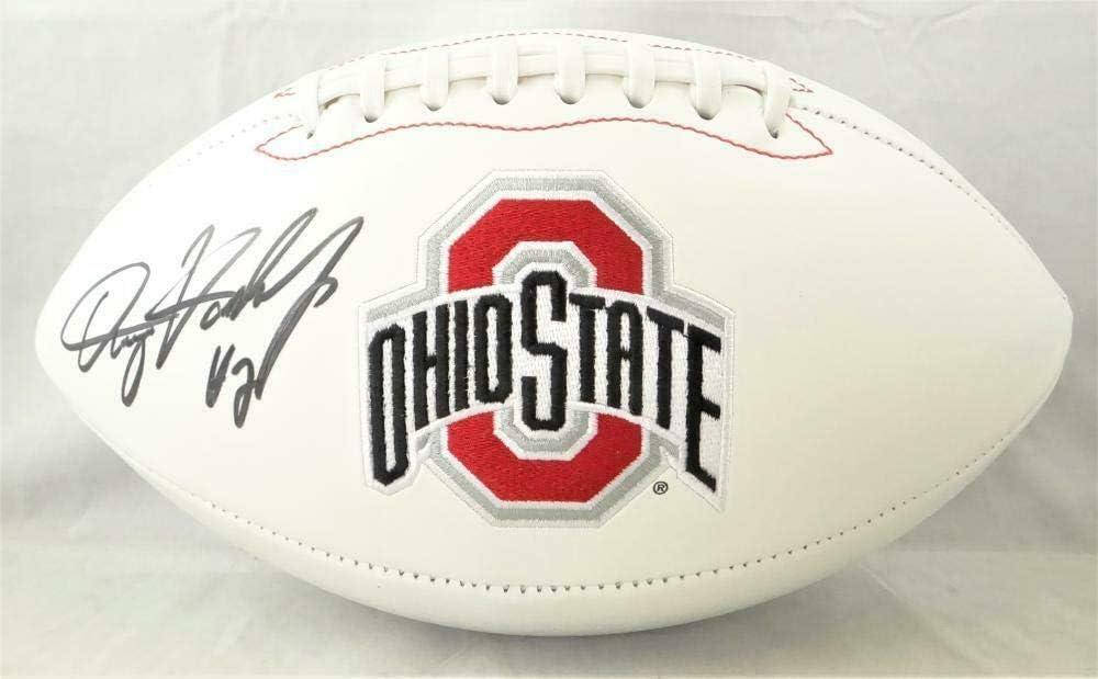 Dwayne Haskins Autographed Ohio Buckeyes Logo Topics on TV Football-Bec Ranking TOP5 State