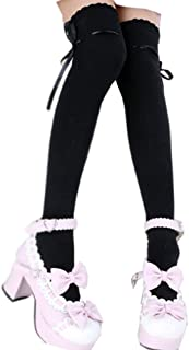 Women's Thigh High Socks Lolita Gothic Over Knee Lace Up Thigh Stocking PTK12