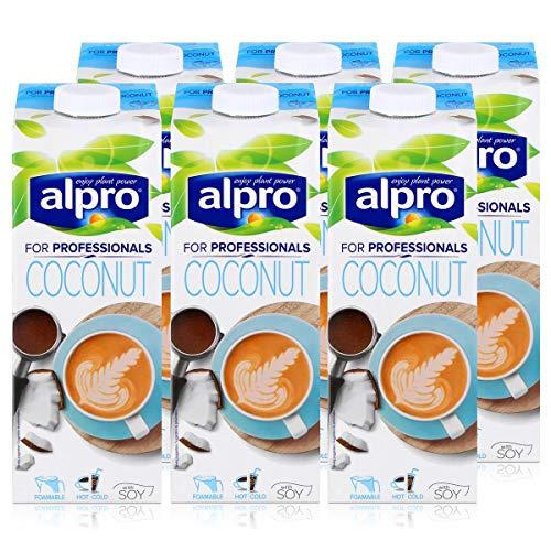 Alpro for professionals Coconut 1L - Kokosnussdrink mit Soja angereichert mit Calcium (6er Pack)