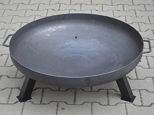 Köhko Feuerschale Ø 79 cm + Anti-Rost lackierte abnehmbare Beine 41003
