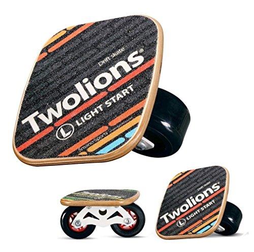 TWOLIONS Freeline Skates,Drift Skate Ahorn Pedal und 72mm PU Räder 608 ABEC-9 Lager