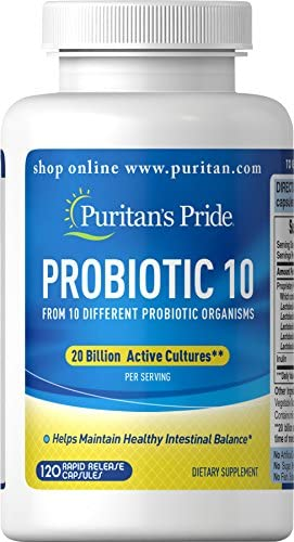 Probiotic 10 with Vitamin D to Help Support Immune System Health*, 60 Count, by Puritan's Pride