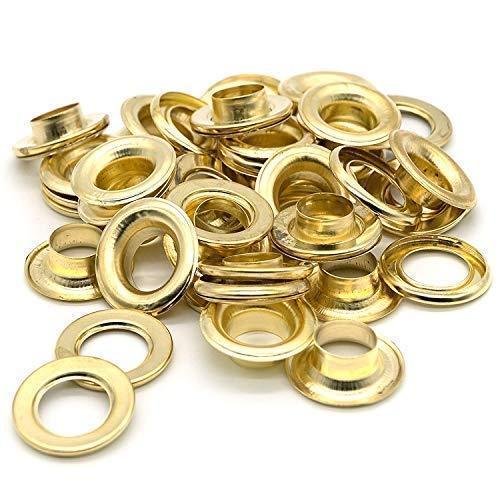 100 x Oogjes en Wasmachines - Gouden Kleur - 10mm Maat - Ideaal voor Jurk, Kant of Stoffen door Trimming Shop