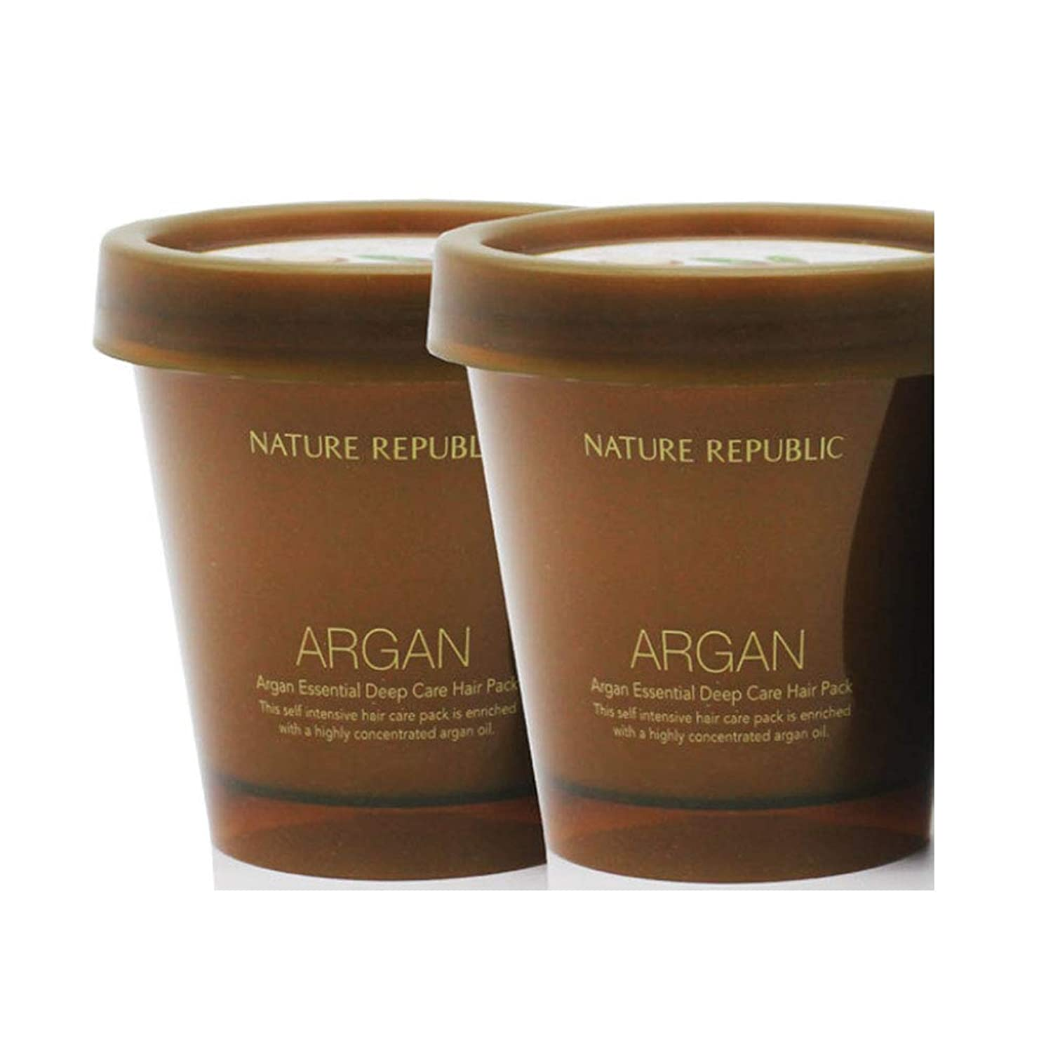 しっとりアンビエント不正ネイチャーリパブリック (NATURE REPUBLIC)アルガンエッセンシャル?ディープケアヘアパック 200mlx 2本セット NATURE REPUBLIC Argan Essential Deep Care Hair Pack 200mlx 2ea Set [並行輸入品]