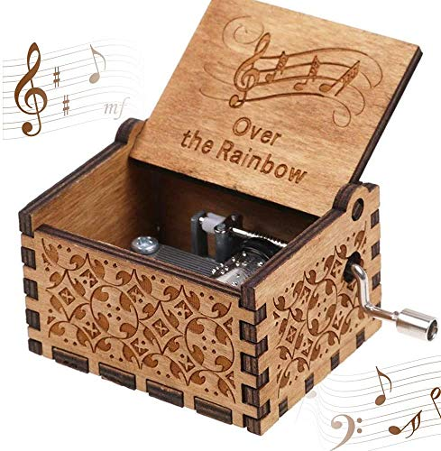 CDIYTOOL - Carillon a manovella in legno vintage fatto a mano, ideale come regalo per...