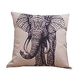 CAOLATOR Funda de Almohada de Fundas de Cojines Serie de Precioso Elefantes de Decoración Oficina en Casa Sofá Funda de Almohada Relleno no Está Incluido 45x45cm