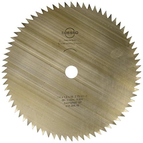 Edessö 61020518 VS/CR-Hoja de Sierra Circular (Acero, 205 x 1,6 x 18, 72 Dientes NV-B), 0 W, 0 V, Plata