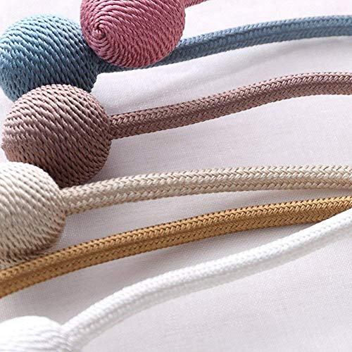 kwlet 2pcs cortina alzapaños cuerda tejer epee Forma alzapaños ...